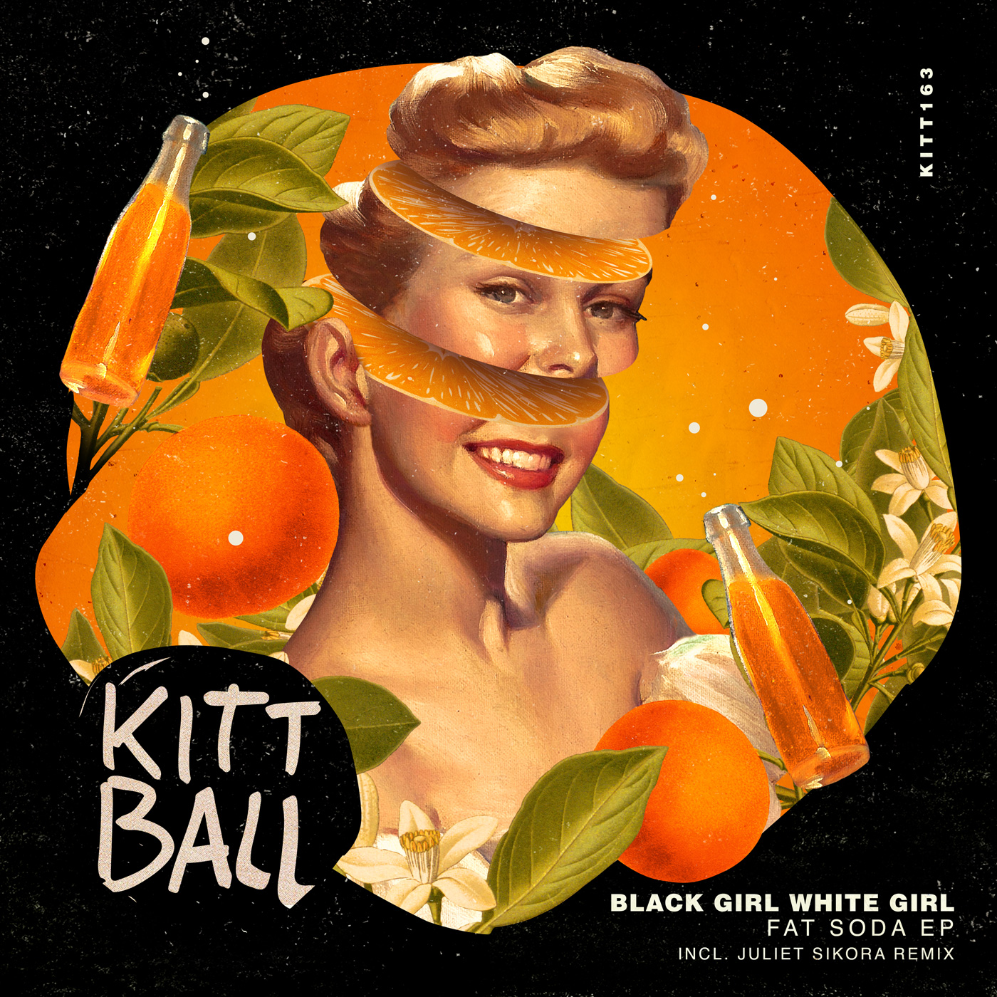 Black Girl White Girl - Fat Soda EP Cover design artwork